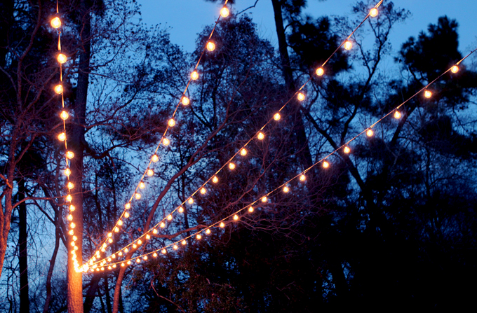 A Canopy of String Lights in our Backyard & A Canopy of String Lights in our Backyard | Gray House Studio