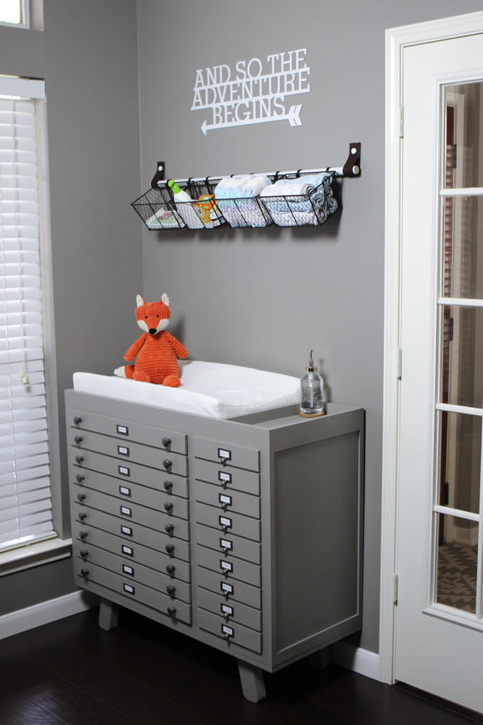 Baby Changing Table Diy Build Gray House Studio