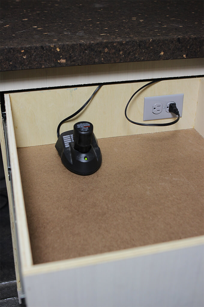 How To Wire An Electrical Outlet >> Electrical Outlet Install Tool Charging Drawer Gray House Studio