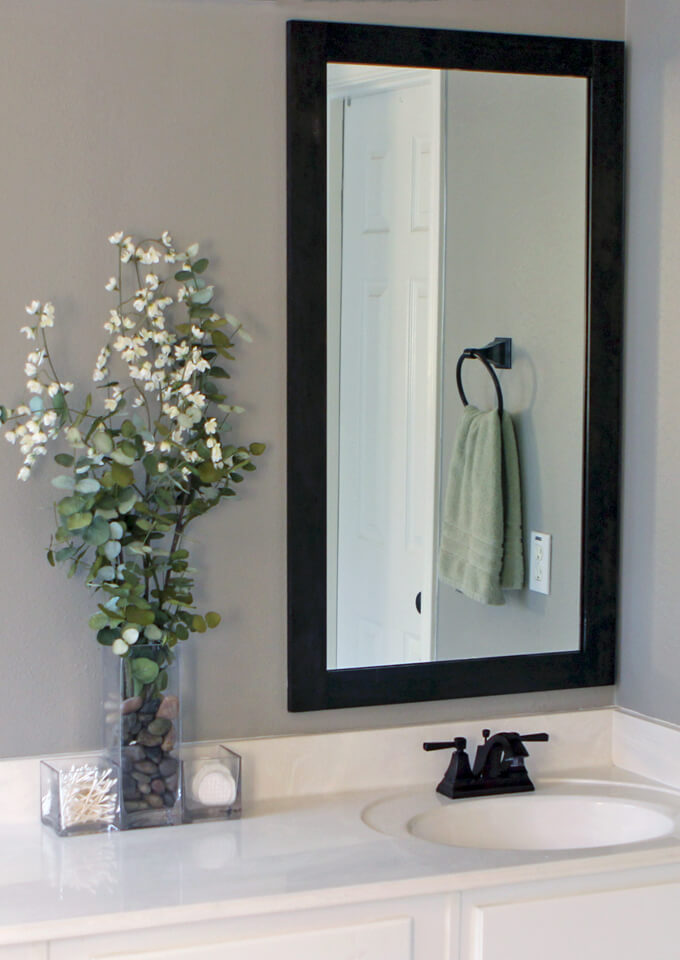 How To Frame Bathroom Mirrors Gray House Studio