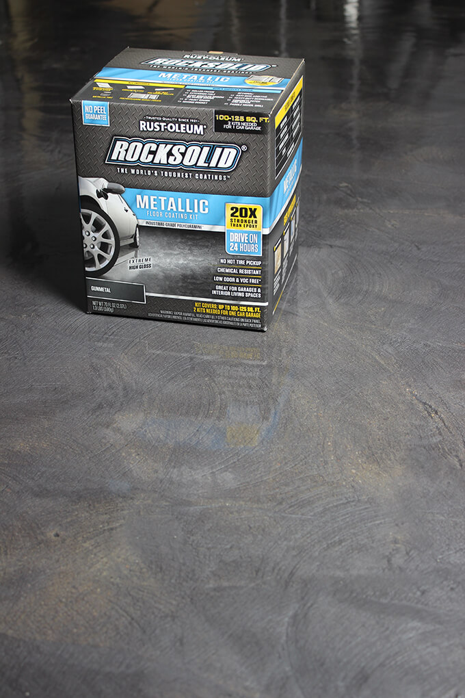 Garage Floor Coating With Rust Oleum Rocksolid