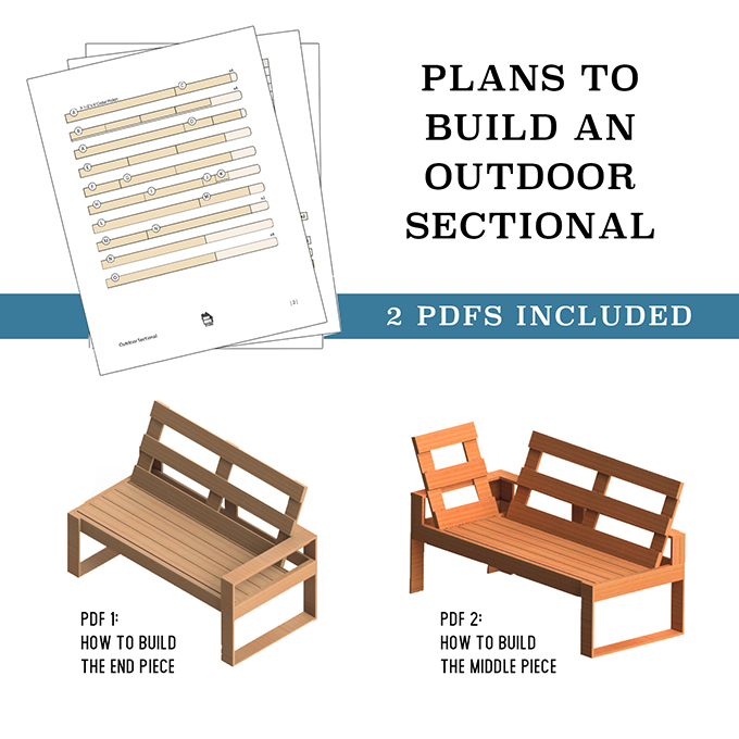 Download DIY Outdoor Sectional for Under $100 Plans