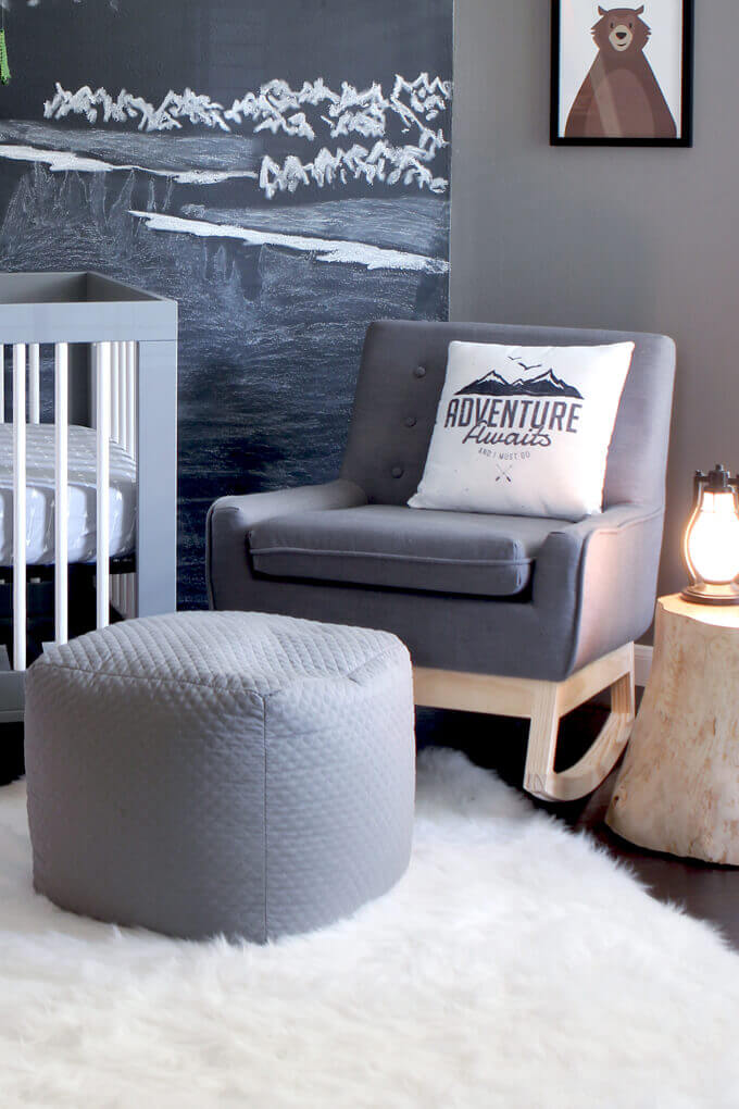 Make A Rocking Chair From An Upholstered Chair Gray House