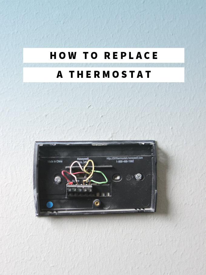 How To Replace A Thermostat >> How To Replace A Thermostat Gray House Studio