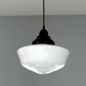 Schoolhouse pendant light solution gray house studio aloadofball Image collections