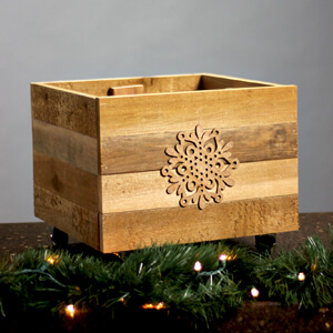 Rustic Christmas Tree Stand Box