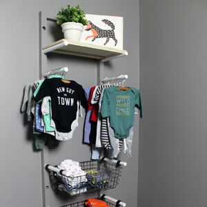 Baby Clothes Rack Nursery Storage