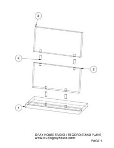 Record Stand Plans