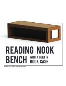 Reading Nook Bench Plans