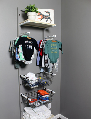 DIY Baby Clothes Rack