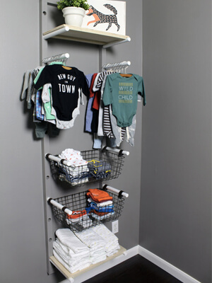 Baby Clothes Rack DIY Project