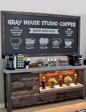 Gray House Studio Coffee Bar Plans
