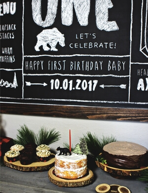 Lumberjack Themed 1st Birthday Party
