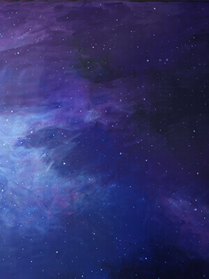 Paint a Galaxy Wall Mural
