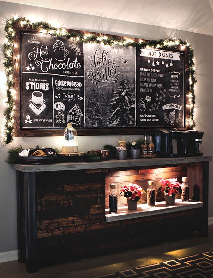 Christmas Coffee Bar Decorations At Gray House Studio