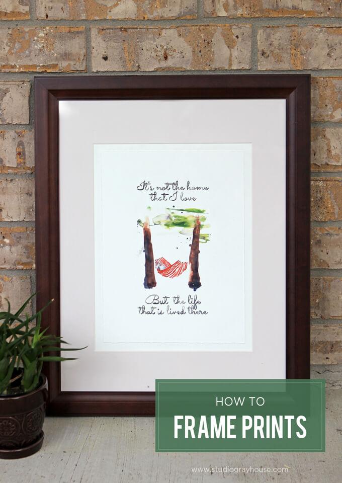 Framing Prints Plus A Free Artwork Gray House Studio