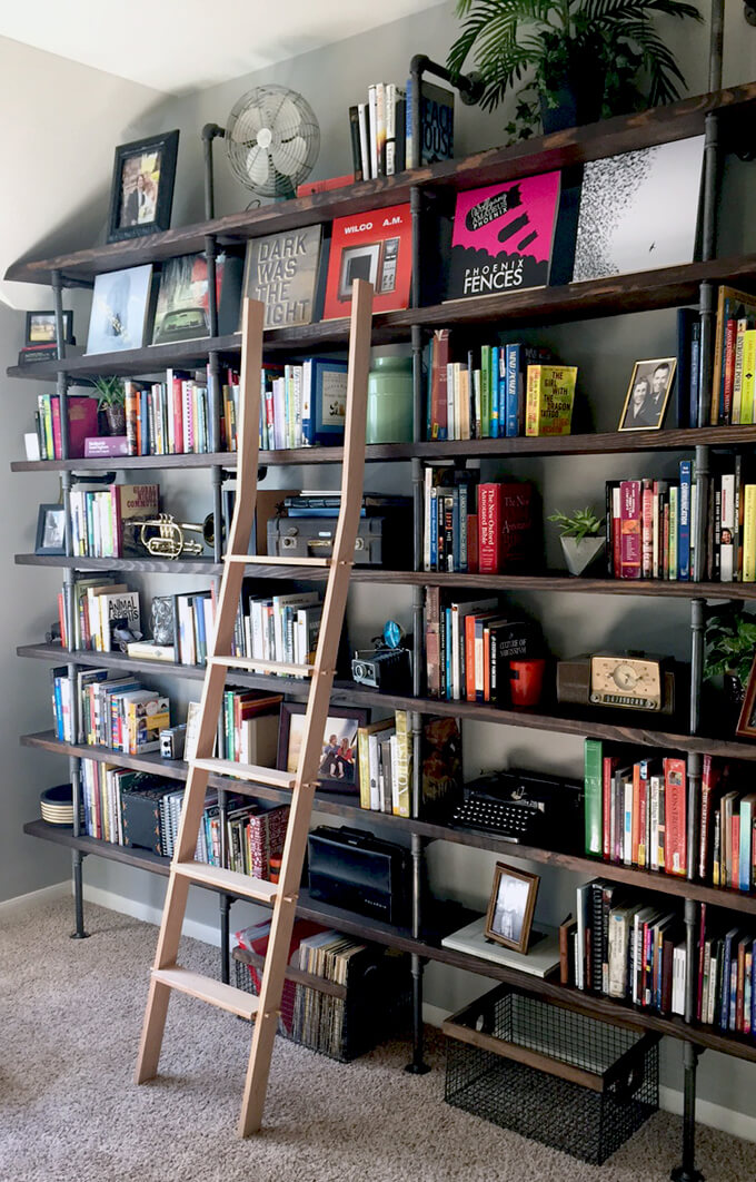 Diy Ladder For The Library Gray House Studio