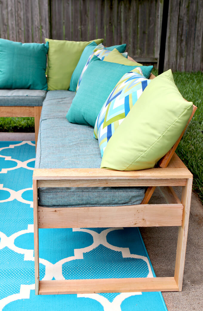 Image of: Diy Outdoor Sectional Gray House Studio