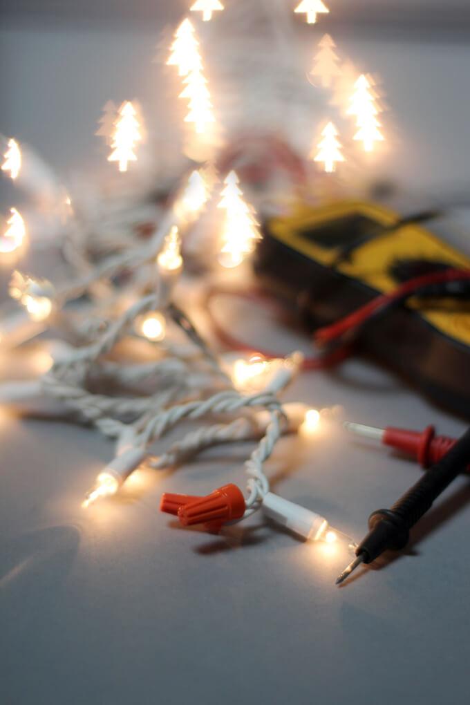 How To Shorten String Christmas Lights